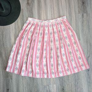 Pendleton Red Aztec Print Cotton Skirt Size 10